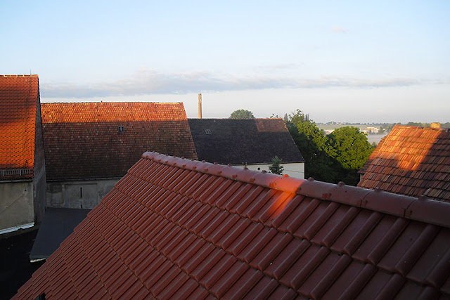 Blick über Dächer