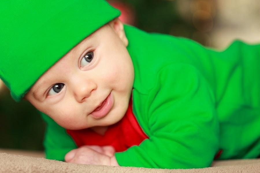 صورة لطفل يبتسم