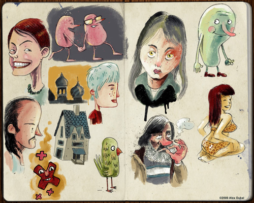 Alex Dukal Sketchbook