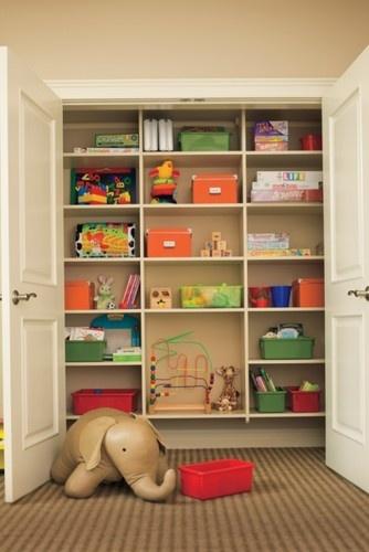 Kids Closet Organization Small Toys