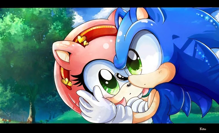 Amy sonic hugging and