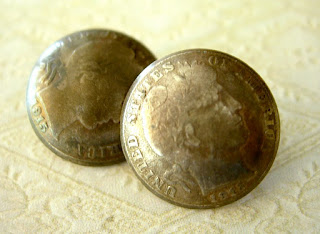 antique barber dimes buttons