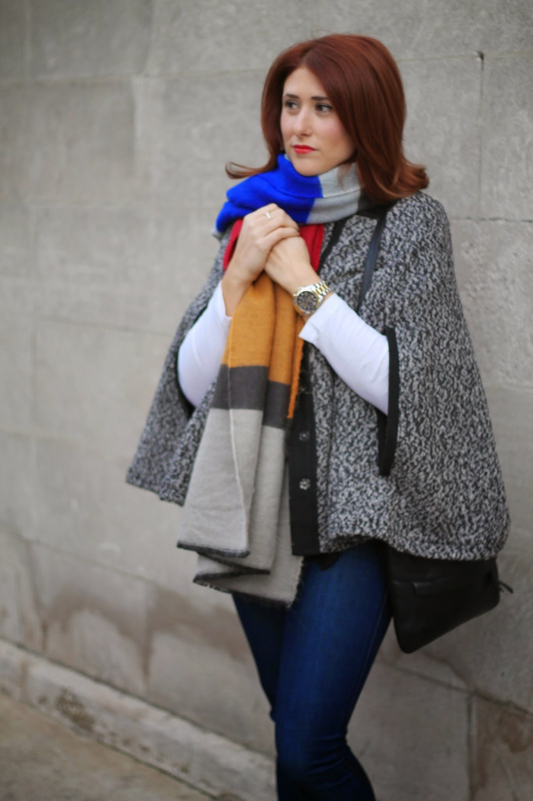 zara, striped, blanket, scarf