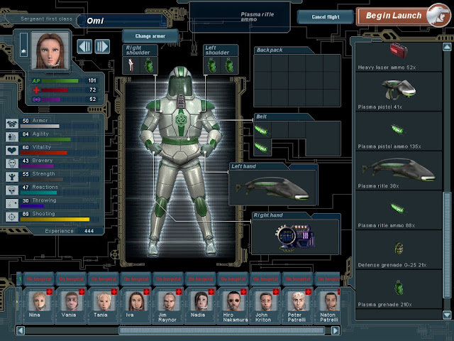 UFO: Extraterrestrials - Equipment Screenshot