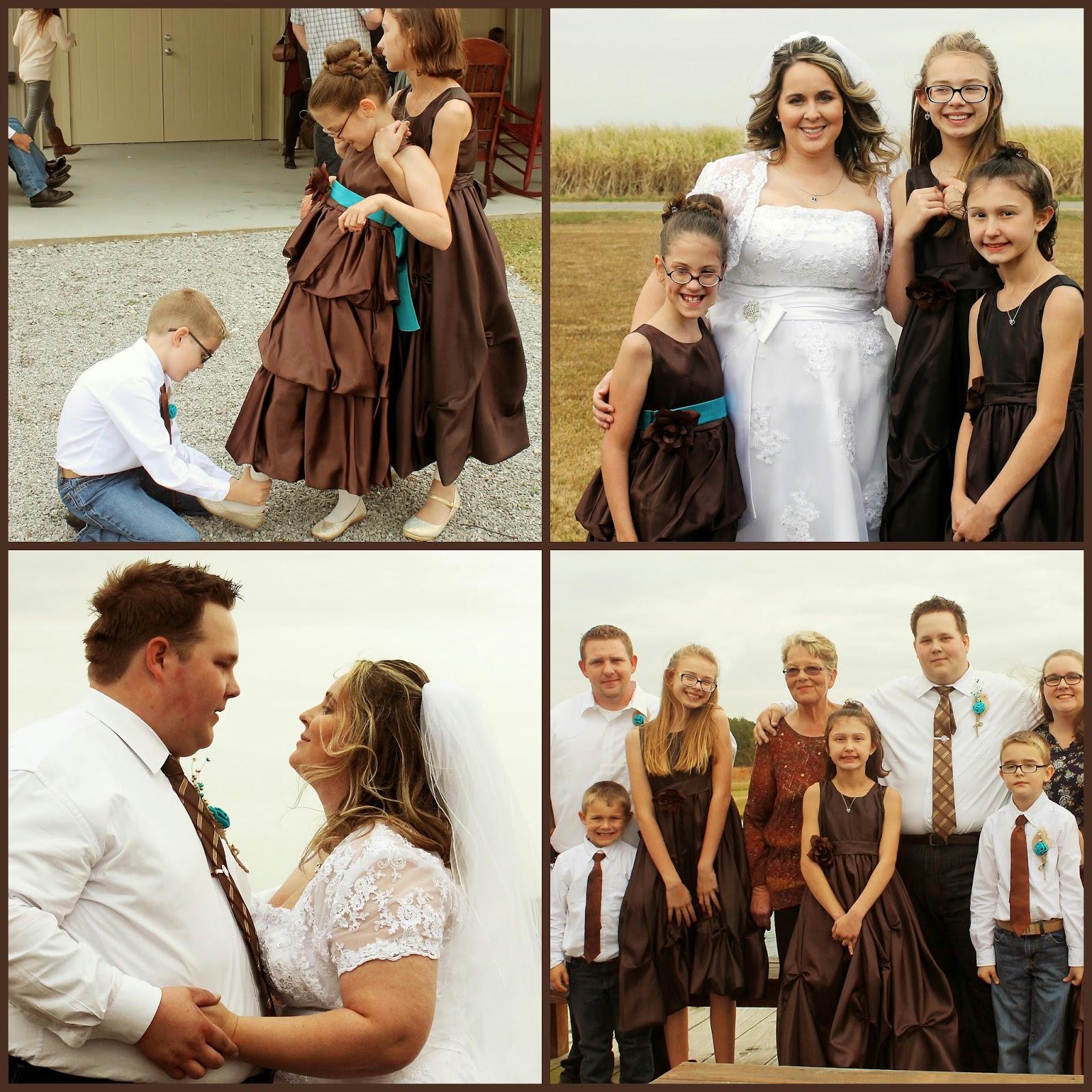 Wedding_Brown And Teal_Burlap_Flower Girl