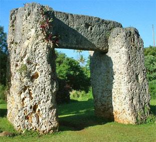 Ворота Тонга в Полинезии