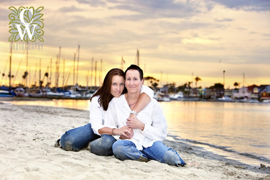 engagment family portrait beach sunset long beach