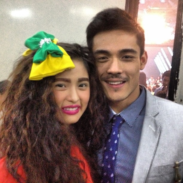 "Kim Chiu and Xian Lim appeared together on ""The Buzz"" show"