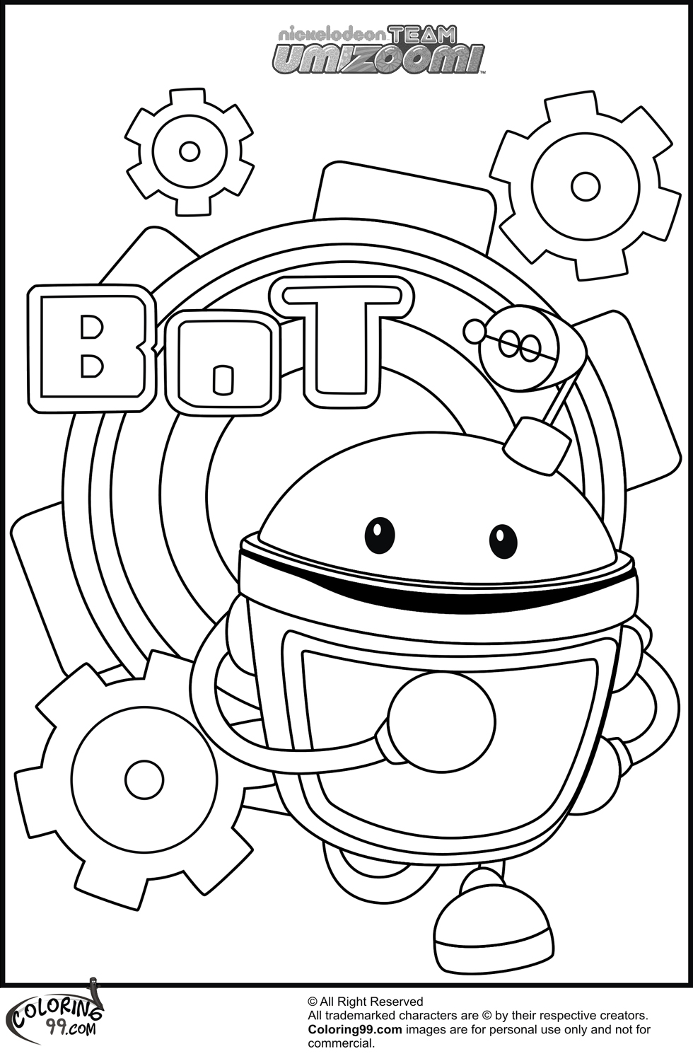 Team Umizoomi Coloring Pages Team Colors Umizoomi Coloring Pages Printable