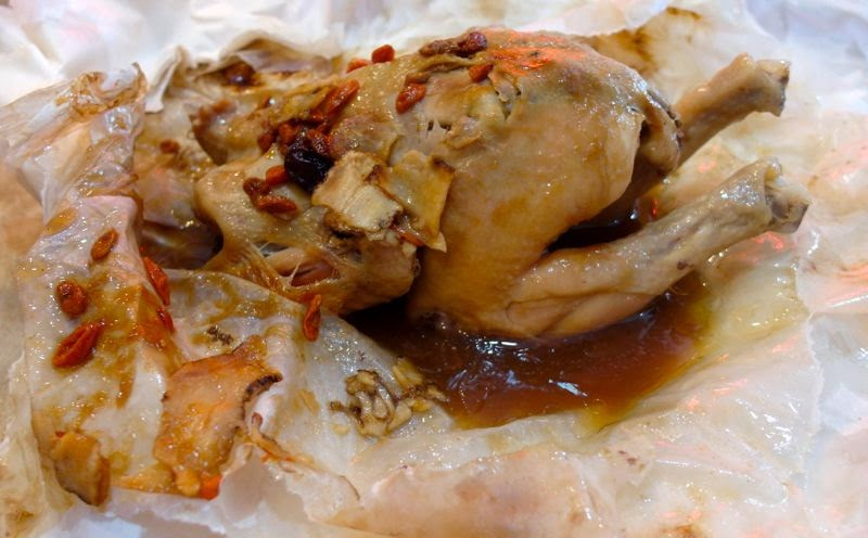 Paper baked chicken Teck Sing Restaurant A Day in JB lunarrive food malaysia