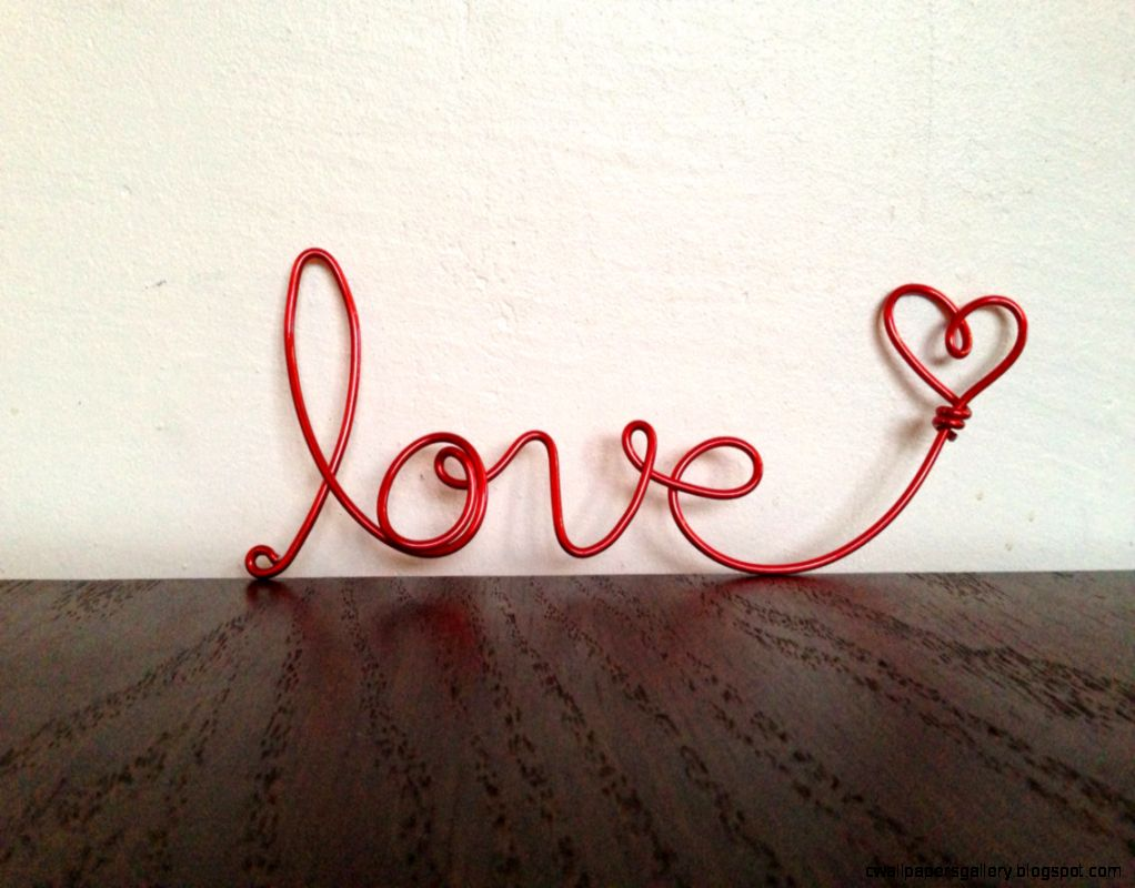 cursive love heart wire word Frame ornament by SatarasWireCrafts