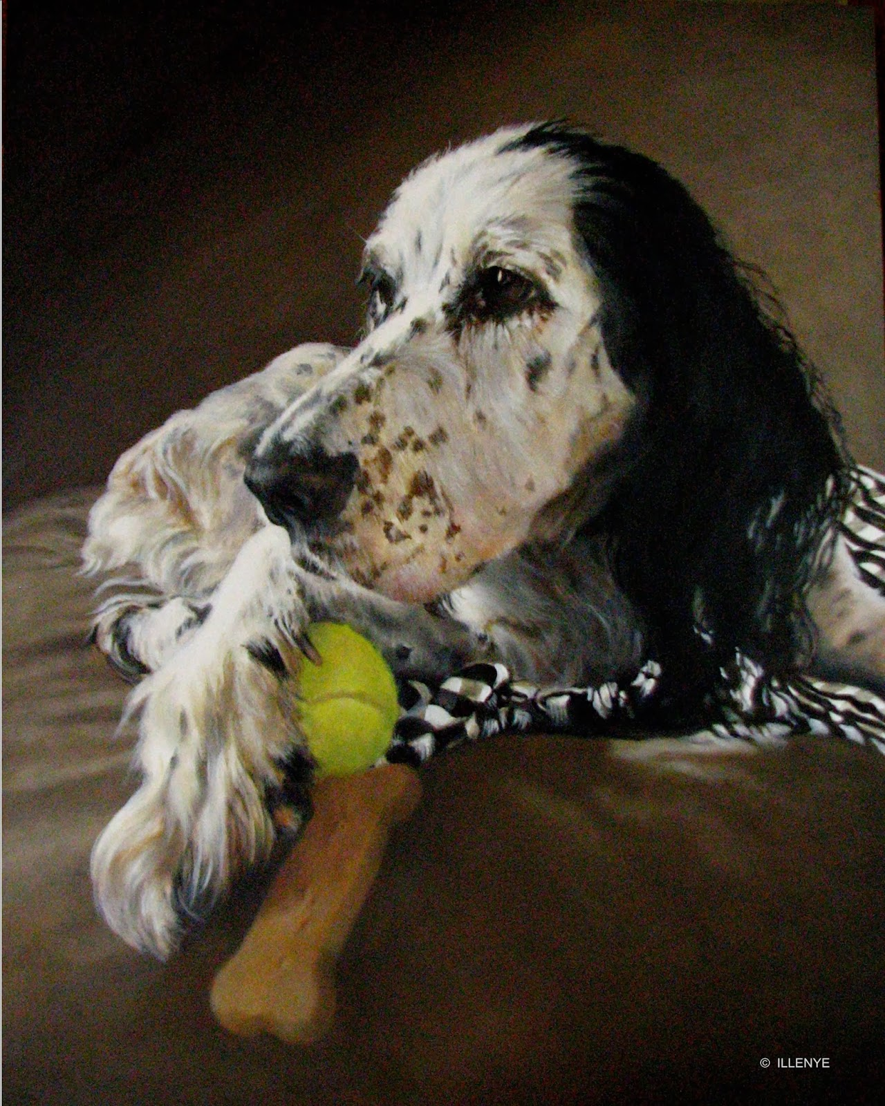 Painting The Dog S Eyes A Pet Portrait
