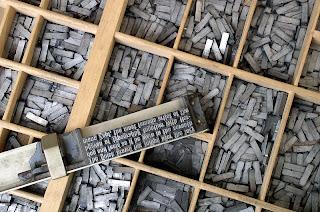 plomb imprimerie écriture