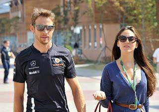 Jenson Button with Girlfriend