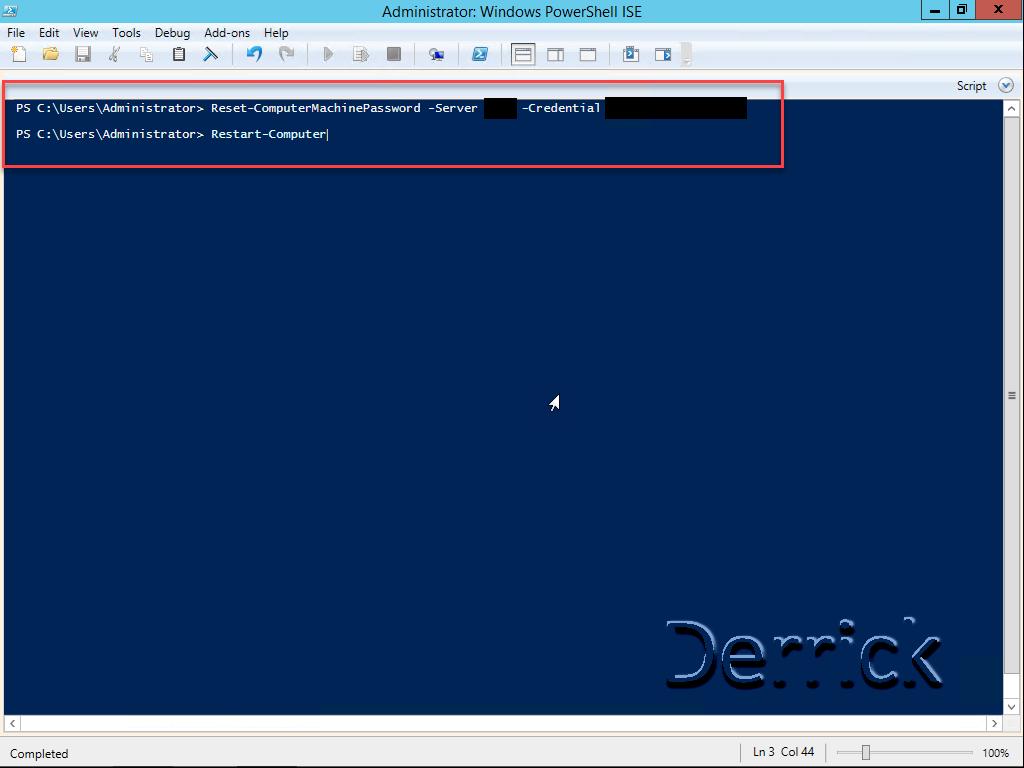 windows 8 1 reset domain trust relationship