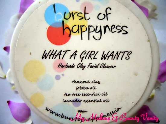 Burst Of Happyness What a Girl Wants Cleanser+natural face cleansers+all natural face cleansers