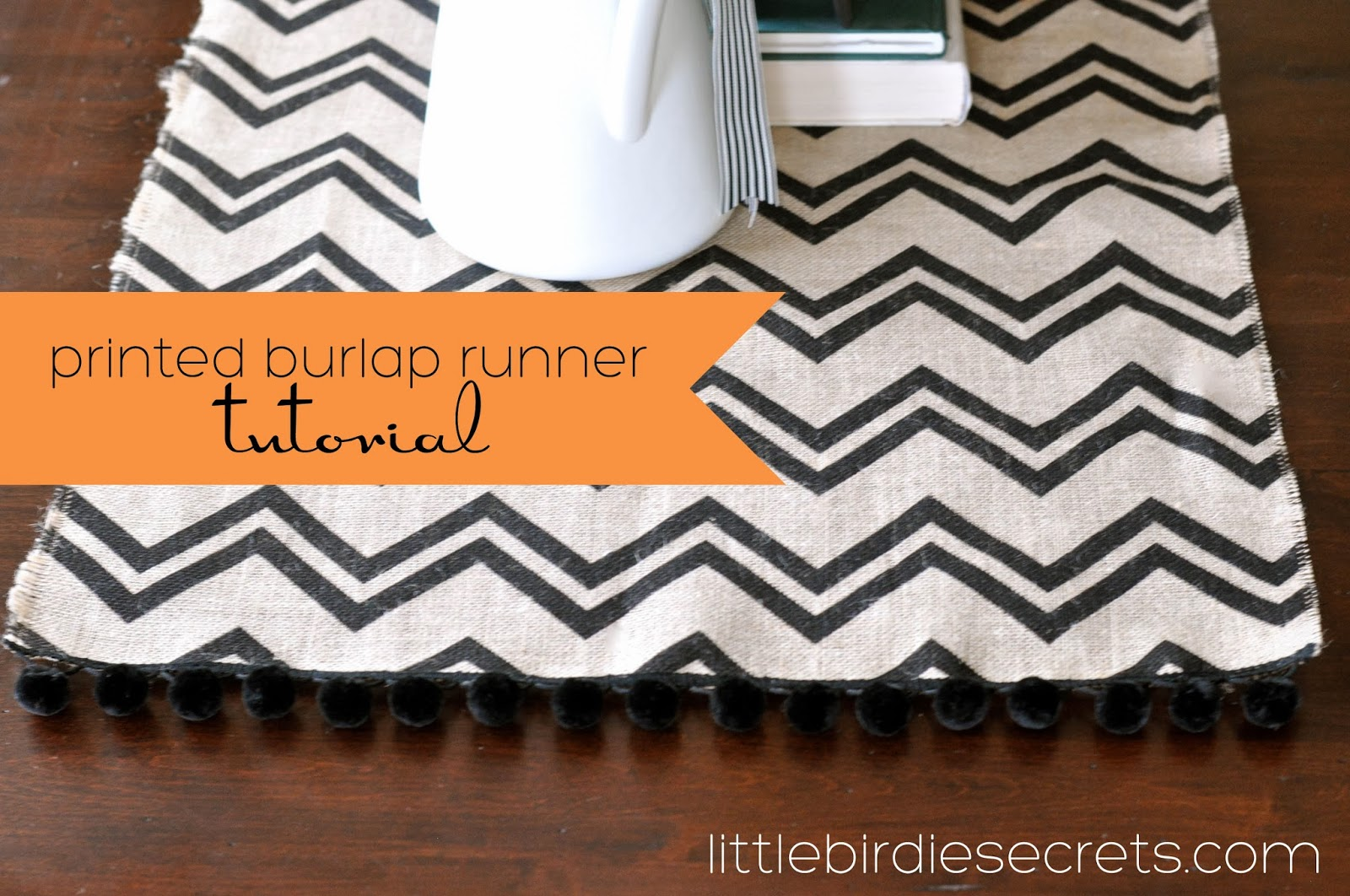 runner Easiest. lobby Halloween This   Project. Ever. table burlap  runner doesn't table hobby