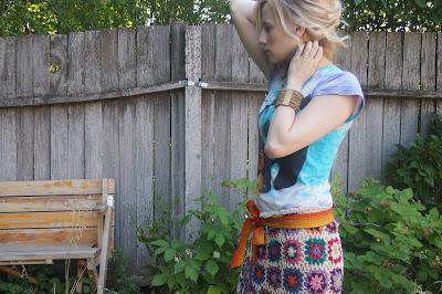 bright+crochet+skirt - Crochet Skirt Review
