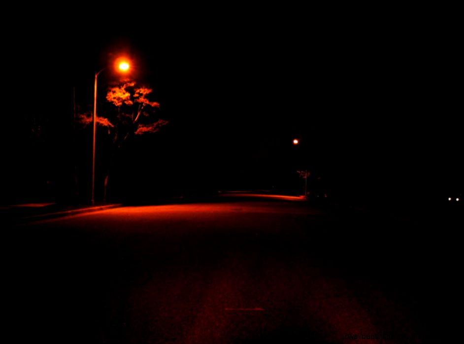 Street At Night  We Heart It  beauty lamp and street
