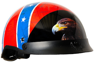DOT Rebel Flag Motorcycle Helmet