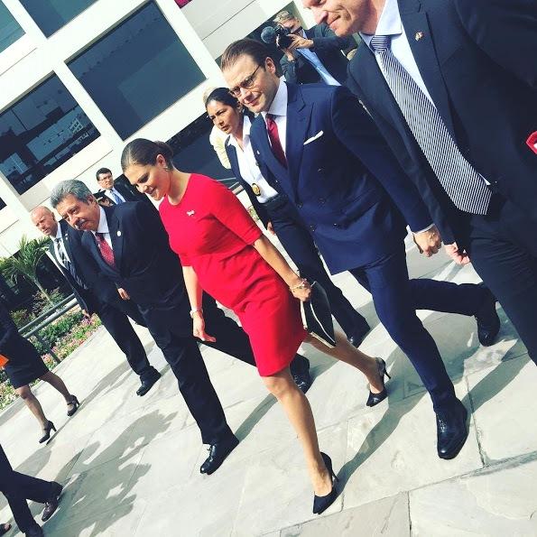 Princess Victoria And Prince Daniel Visit Peru, Day 1