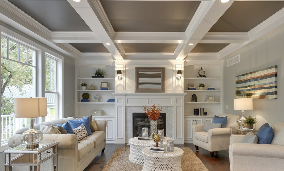 Should I paint or stain a color on the ceiling? Pros and cons of painting a  ceiling.