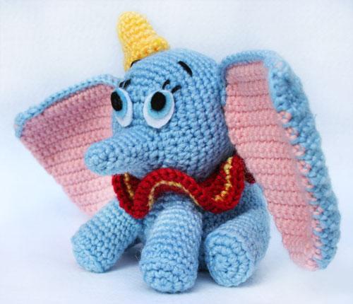Corpo elefante Dumbo amigurumi