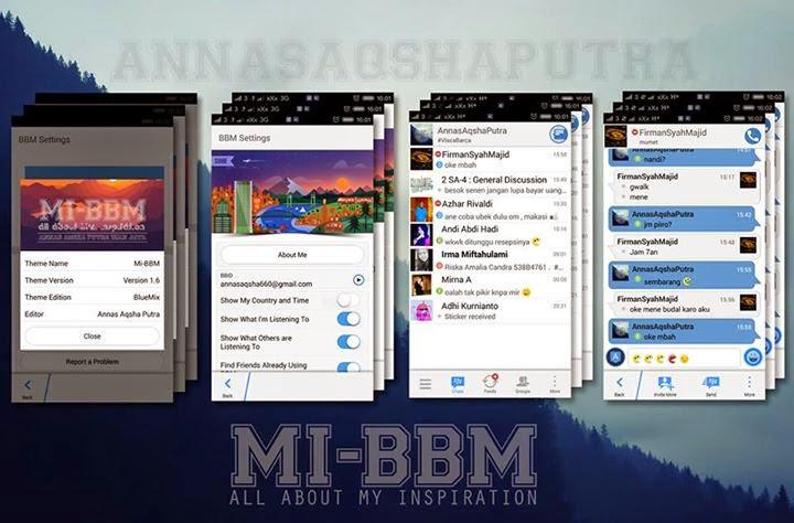BBM Mod BlueMix 2.7.0.23 + New Emoticons
