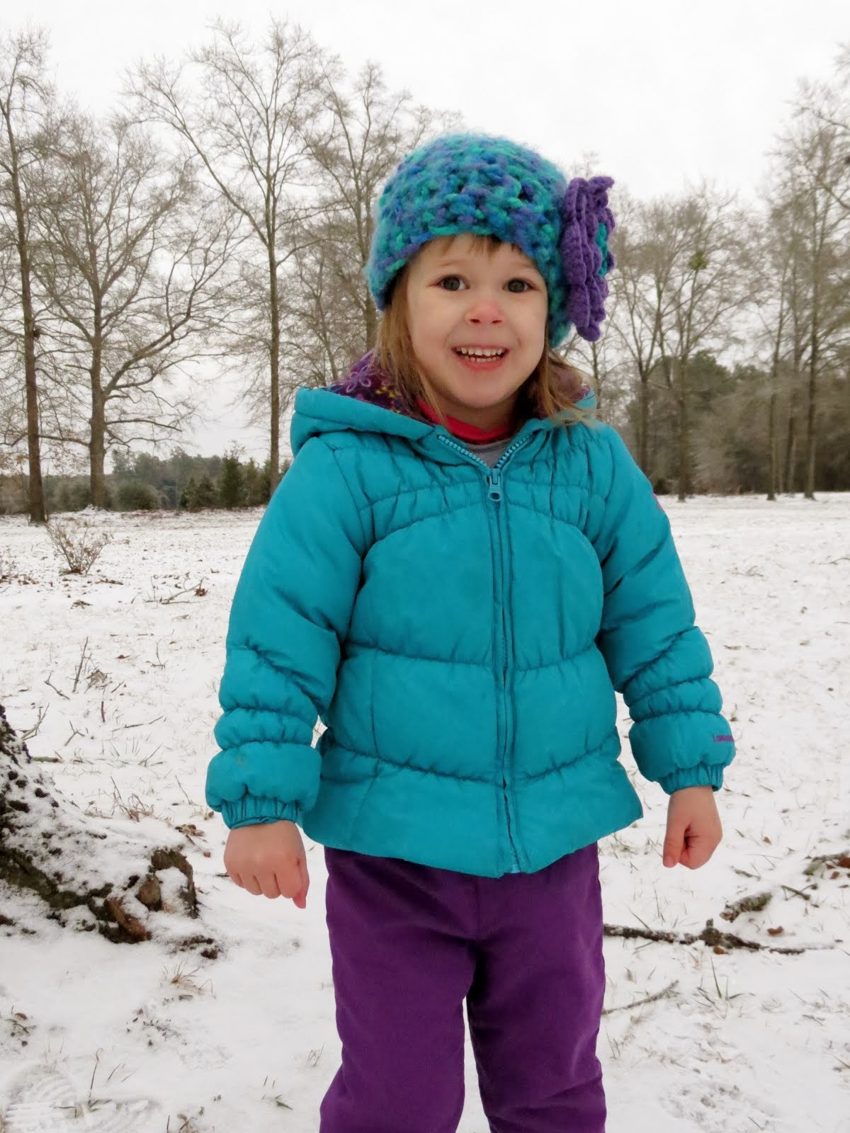 Madalyn's 1st Snow