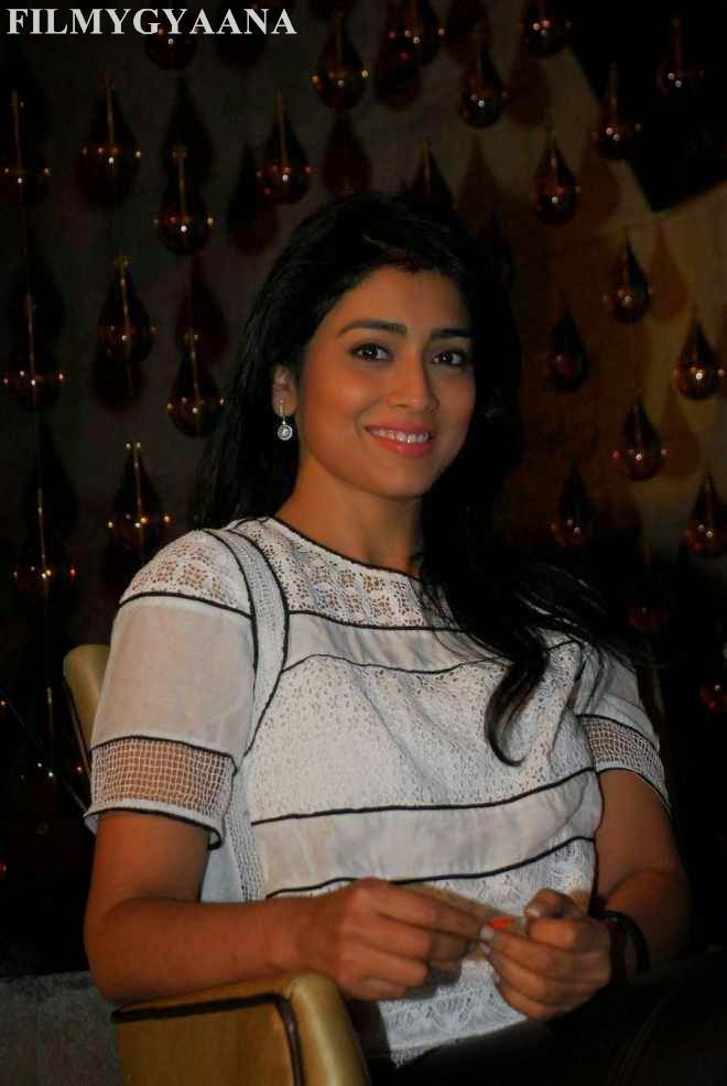 shriya saran latest white top photos