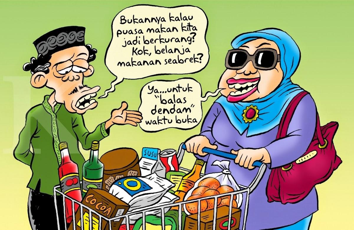 Gambar Puasa Lucu Cerita Ramadhan DP PP Wallpaper
