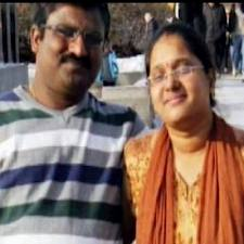 Hyderabad couple V. Chandrasekhar and his wife Anupama