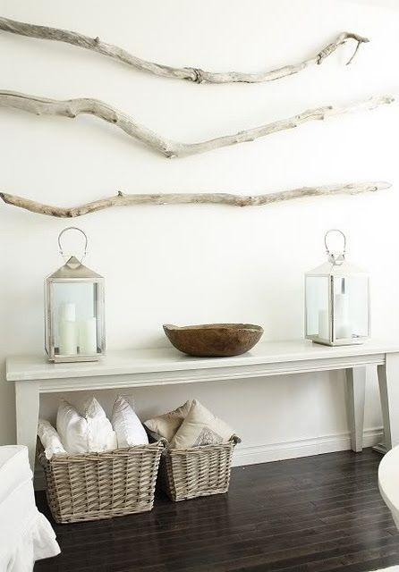 Inspiracin decoracin marinera Blanco y de madera