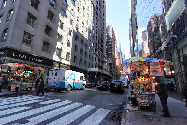 A lot of food vendors can be found every corner of the streets of New York City in USA