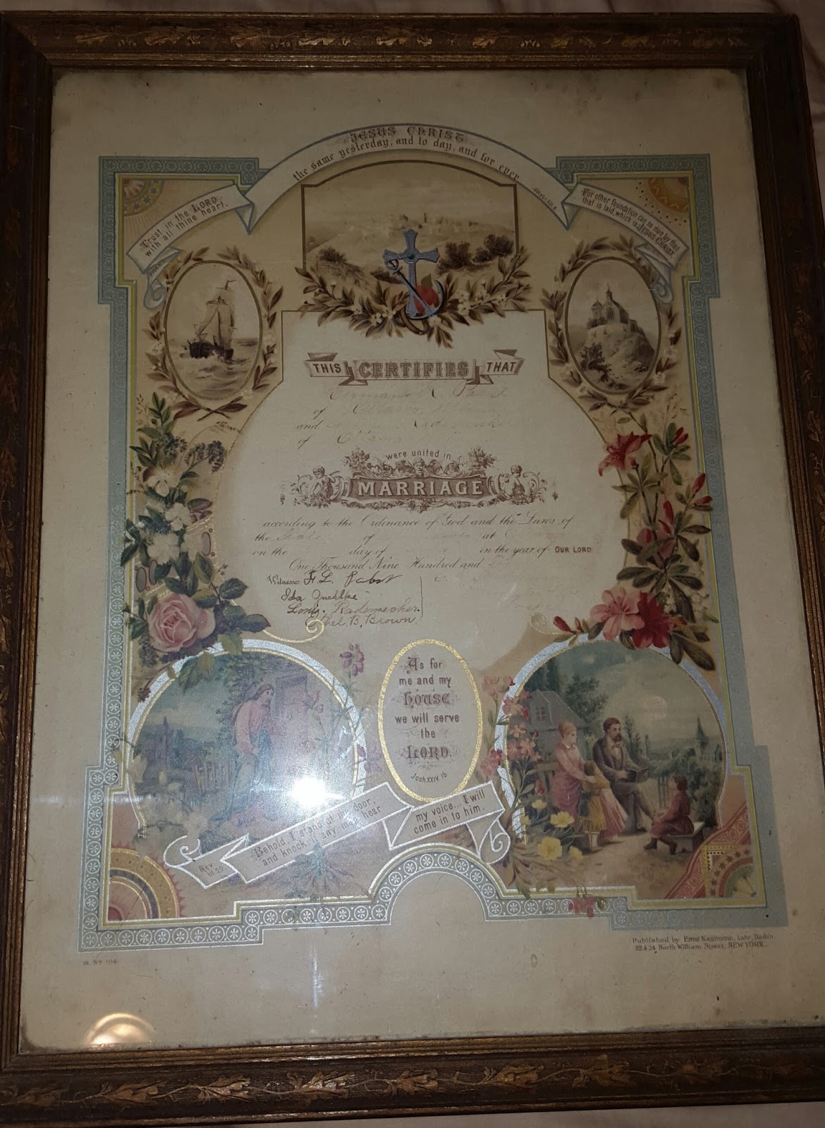 The Dead Relative Collector Rescued 1910 Pabst Marriage Certificate