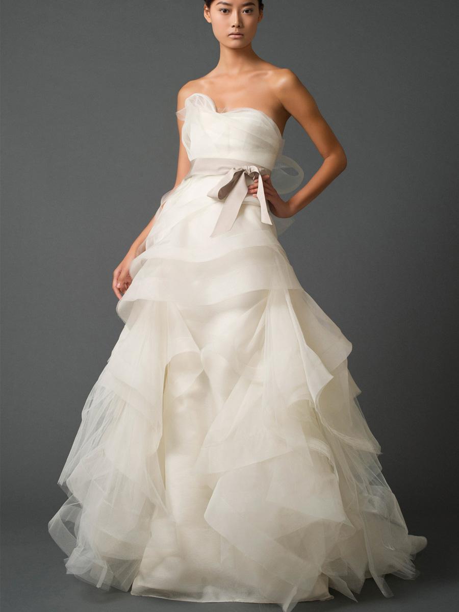 Golden dew lovely peplum wedding dress for Peplum dresses for weddings