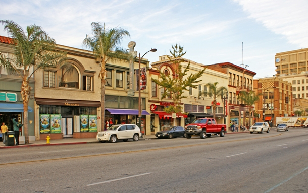 Old Pasadena, often referred to as Old Town Pasadena or just Old Town, is the original commercial center of Pasadena, a city in California, United States that arose from one of the most prosperous areas of the state, and had a latter day revitalization after a period of decay.