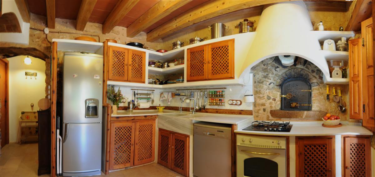 Mas del r u fotos interior for Cocinas de lena con horno