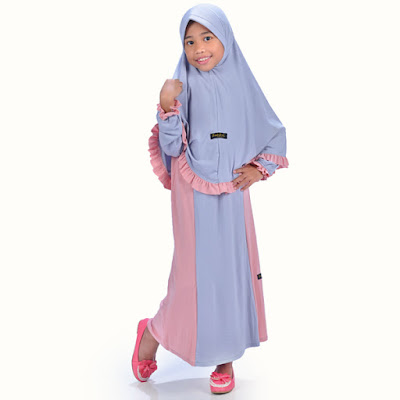 Model Baju Gamis Jersey Anak Muslimah Syar'i Terbaru