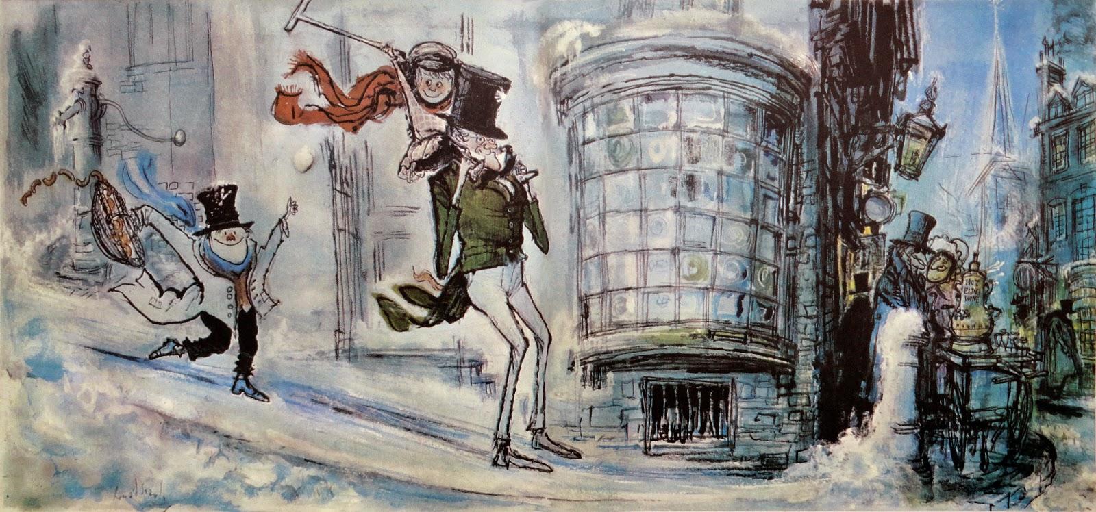 Dickens Christmas Carol Illustrations