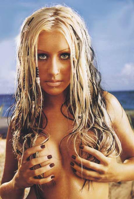 christina aguilera boobs