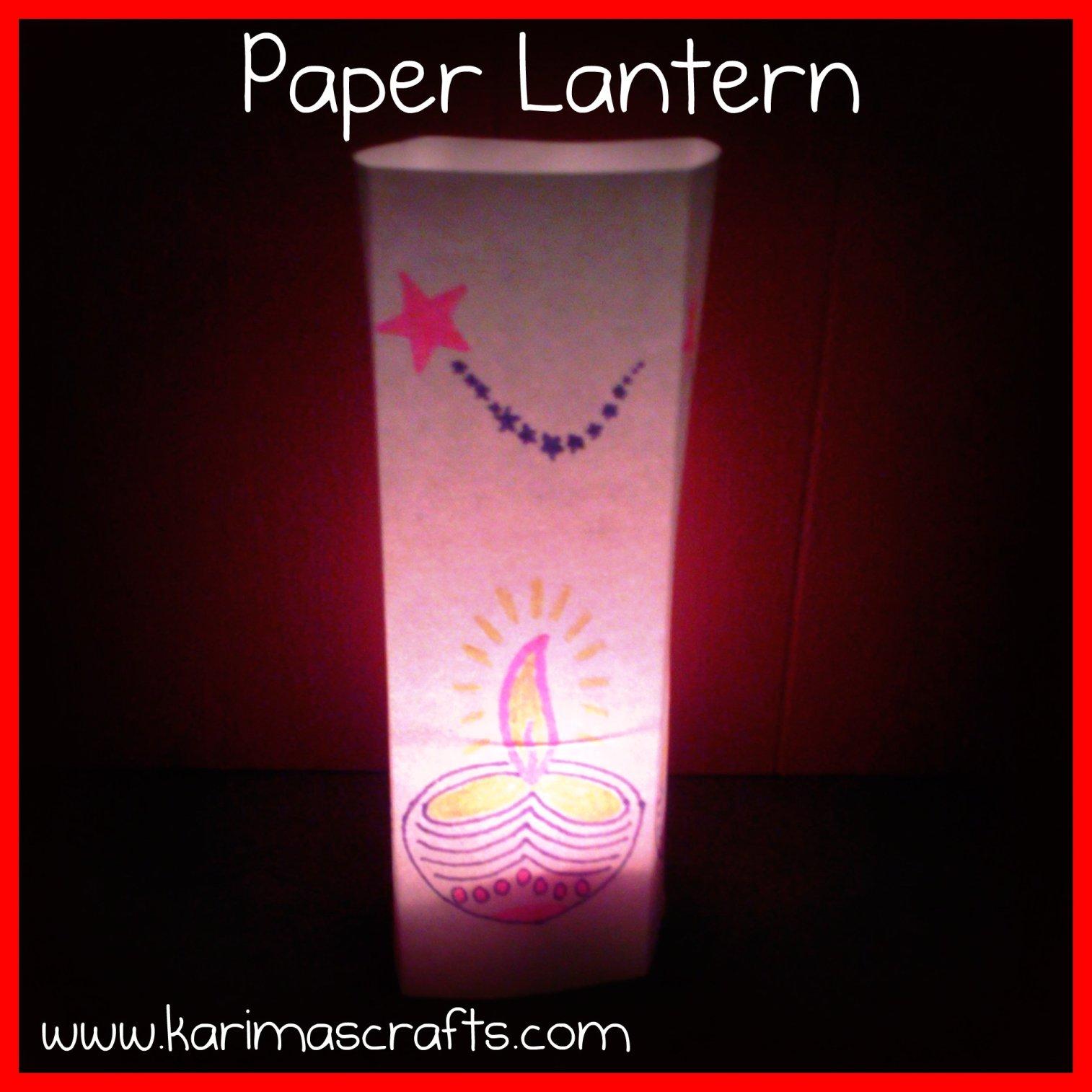 Karima 39 s crafts paper lantern tutorial for Paper lantern tutorial