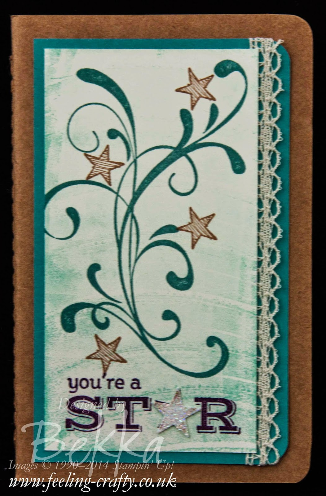 You're A Star Stampin' Up! Kraft Grid Journal by UK Independent Demonstrator Bekka - Great idea for prizes for her team