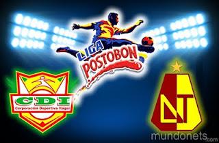 Resultado Itagüi Vs Tolima - Liga Postobon