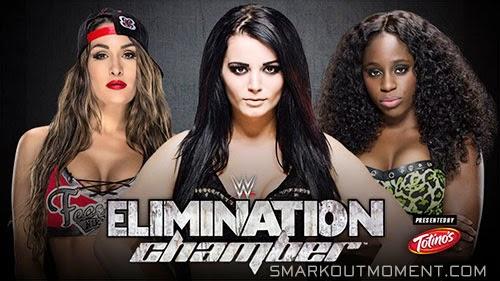 WWE Elimination Chamber Nikki Bella vs Paige vs Naomi