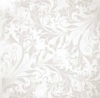 落ち着いたグレーの植物柄背景 floral wallpaper vector イラスト素材2