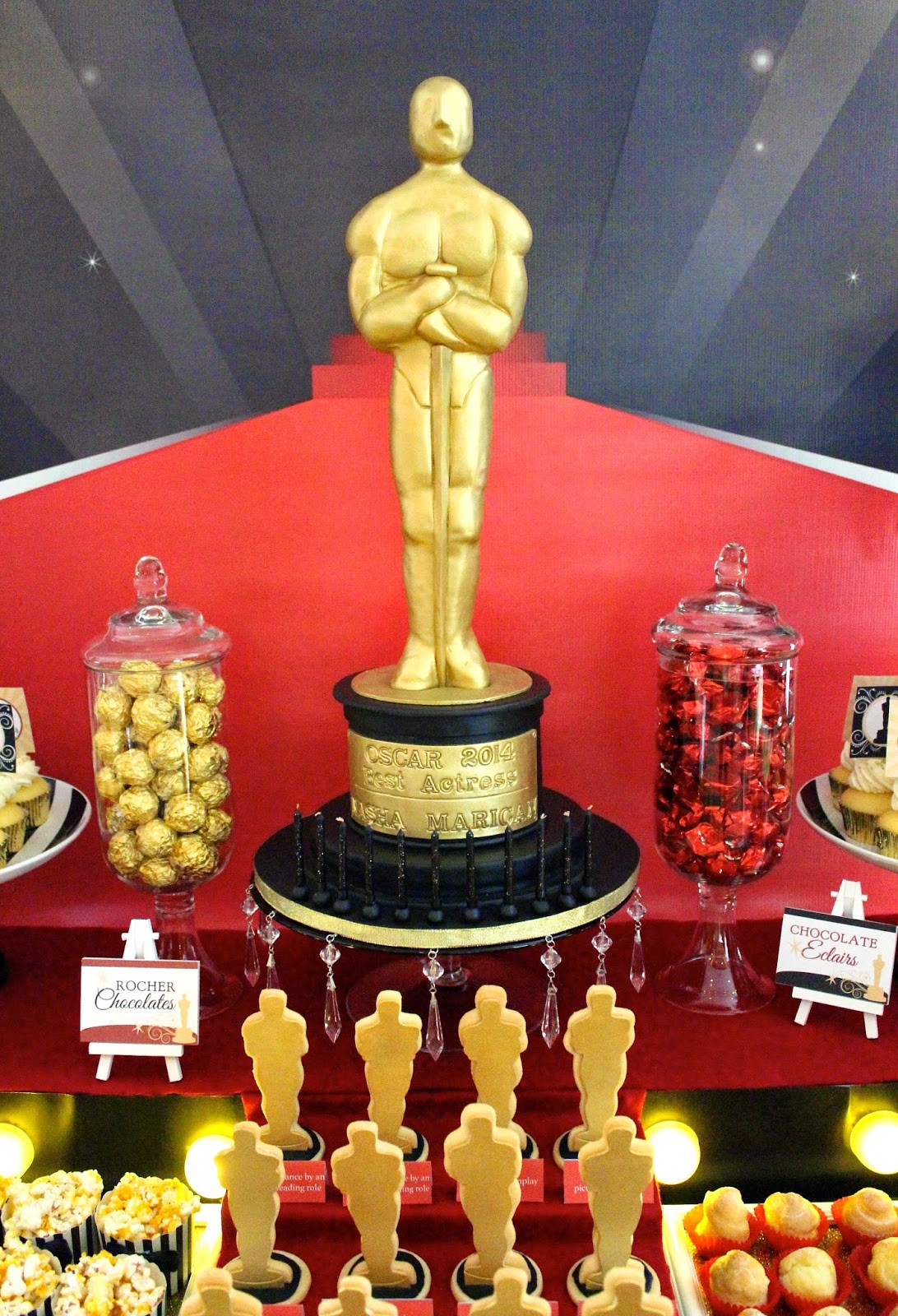 Oscar Themed Dessert Table Click Post To View More Pictures