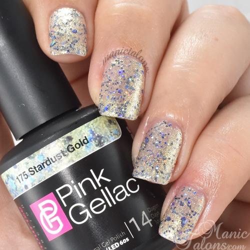 Pink Gellac Stardust Gold Swatch