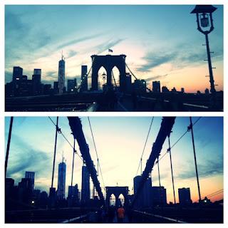 Brooklyn Bridge walks, walking across the Brooklyn Bridge, East River New York City bridge