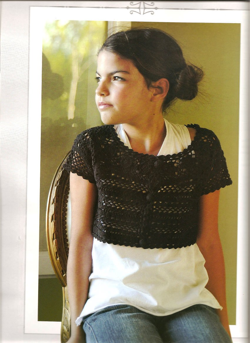 Bolero De Nina En Crochet